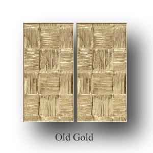 RAPHIA pair of rectangle medium push/pull plates