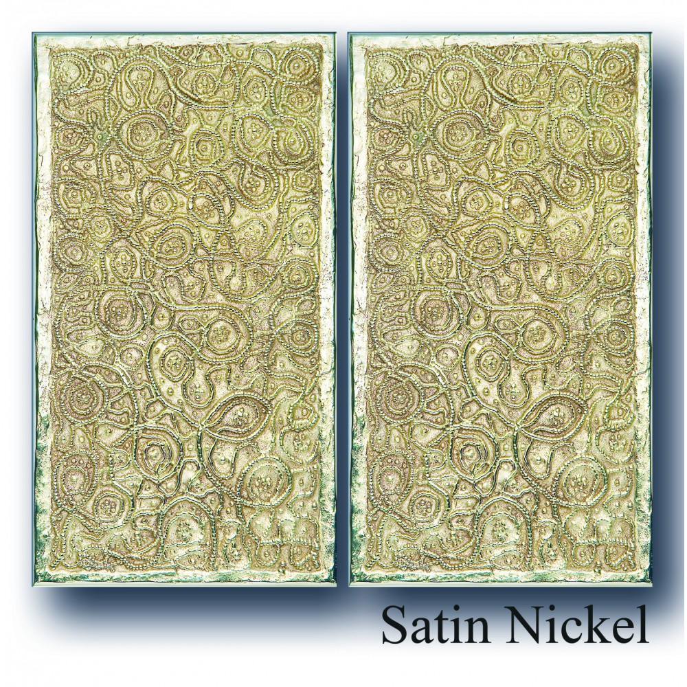 SAMARCANDIA STYLE, PAIR OF  RECTANGLE LARGE PLATE