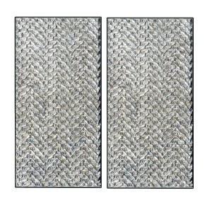 TWEED pair of rectangle intermediate push/pull plates