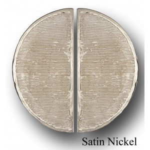 STREAKED STYLE, PAIR OF HALF MOON LARGE PLATE